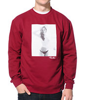 Primitive Sunday Red Crew Neck Sweatshirt