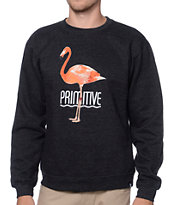 Primitive Tropical Charcoal Crew Neck Sweatshirt