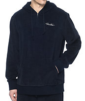 Primitive Velour Quarter Zip Navy Hoodie