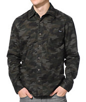 Primitive Ventura Olive Camo Button Up Shirt