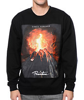 Primitive Volcano Black Crew Neck Sweatshirt