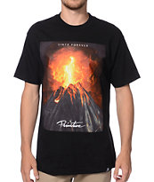 Primitive Volcano Black Tee Shirt
