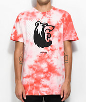 Primitive X Grizzly Bearhaus Washed Coral T-Shirt