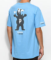 Primitive X Grizzly Mascot Carolina Blue T-Shirt