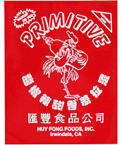 Primitive X Huy Fong Logo Sticker