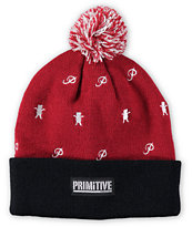 Primitive x Grizzly Icon Pom Beanie
