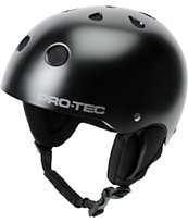 Pro-Tec Classic Satin Black Audio Force 2014 Snowboard Helmet