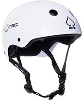 Pro-tec Classic White Gloss Skateboard Helmet