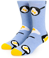 Psockadelic Fried Egg Crew Socks