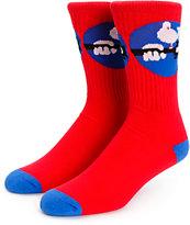 Psockadelic Woodpsock Crew Socks