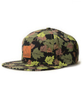 Quintin Co Leaf Camo Strapback Hat
