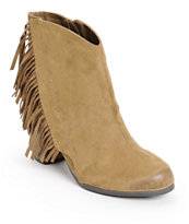Qupid Fringe Taupe Boots