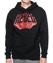 REBEL8 3D Black Pullover Hoodie