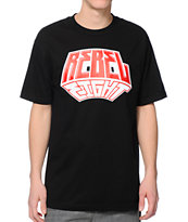 REBEL8 3D Black T-Shirt