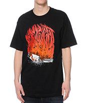 REBEL8 Burn Black T-Shirt
