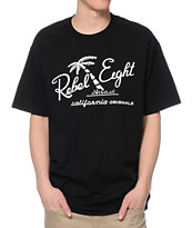 REBEL8 California Originals Black Tee Shirt
