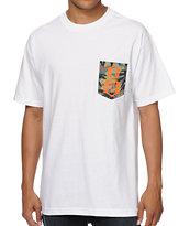 REBEL8 Camo Logo White Pocket T-Shirt