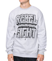 REBEL8 Concrete Heather Grey Crew Neck Sweatshirt