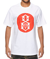 REBEL8 Crash N Burn White Tee Shirt