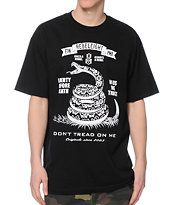 REBEL8 Don't Tread On Me Black Tee Shirt
