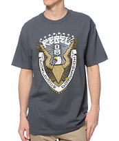 REBEL8 Eagle Crest Charcoal Tee Shirt