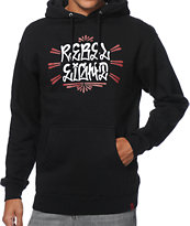 REBEL8 Fat Cap Black Pullover Hoodie