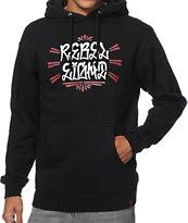 REBEL8 Fat Cap Black Pullover Hoodie