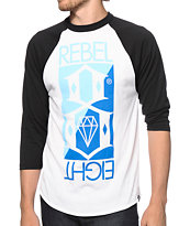 REBEL8 Flip Baseball Tee Shirt