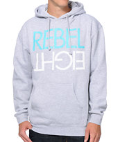 REBEL8 Flip Heather Grey Pullover Hoodie