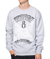 REBEL8 Hand Signs Heather Grey Crew Neck Sweatshirt