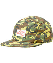 REBEL8 Jungle Camo Print 5 Panel Hat