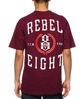 REBEL8 Laurels Burgundy T-Shirt