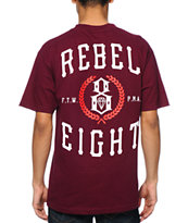 REBEL8 Laurels Burgundy Tee Shirt