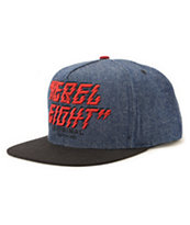 REBEL8 Lightning Strikes Denim Snapback Hat
