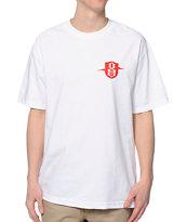 REBEL8 Lightninig Badge White T-Shirt