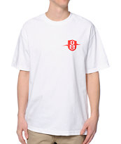 REBEL8 Lightninig Badge White Tee Shirt