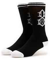 REBEL8 Logo Black Crew Socks