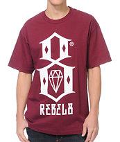 REBEL8 Logo Burgundy T-Shirt