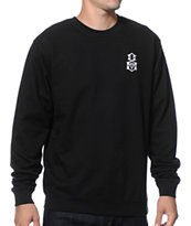 REBEL8 Logo Emblem Crew Neck Sweatshirt