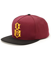 REBEL8 Logo Maroon & Black Snapback Hat