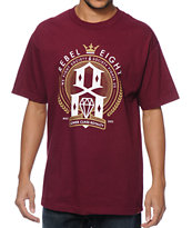 REBEL8 Lower Class Royalty Burgundy Tee Shirt