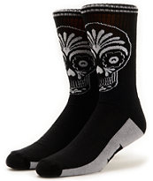 REBEL8 Muertos Black Crew Socks