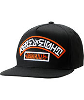 REBEL8 Originals 3 Black & Orange Snapback Hat