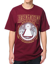 REBEL8 Root Of All Evil Maroon Tee Shirt
