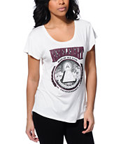 REBEL8 Root Of All Evil White Scoop Neck T-Shirt