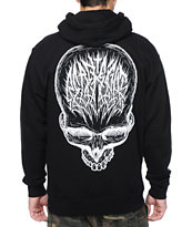 REBEL8 Skull Scribe Black Zip Up Hoodie