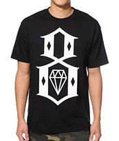 REBEL8 Standard Issue Logo Black Tee Shirt