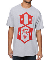 REBEL8 Standard Logo Grey Tee Shirt