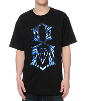 REBEL8 Tie Dye Logo Black Tee Shirt