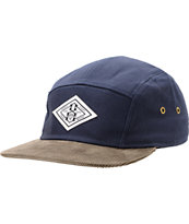 REBEL8 Trademark Navy Blue & Brown 5 Panel Hat
